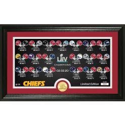 Kansas City Chiefs Super Bowl 54 Bronze Coin Panoramic Photo Mint