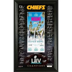 Kansas City Chiefs Super Bowl 54 Champions Signature Ticket