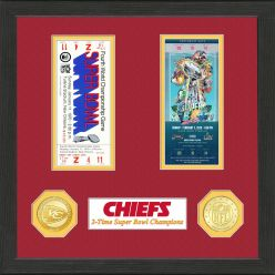 Kansas City Chiefs 2-Time Super Bowl Champions Ticket Collection