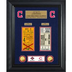 Cleveland Indians World Series Deluxe Gold Coin & Ticket Collection