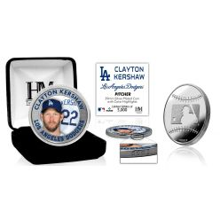 Clayton Kershaw Silver Mint Coin