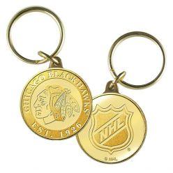 Chicago Blackhawks Bronze Team Keychain