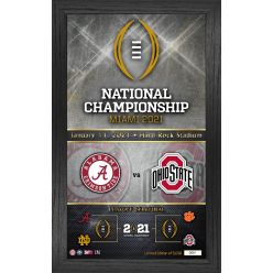 Alabama vs Ohio State 2020 Football National Championship Team Pride Dueling Panoramic Photo