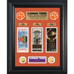 Clemson Tigers 2018 Football 3-Time National Champions Deluxe Ticket Collection