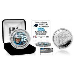 Christian McCaffrey Silver Color Coin