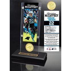 Christian McCaffrey Ticket & Bronze Coin Acrylic Desk Top