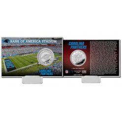 Carolina Panthers Team History Silver Coin Card