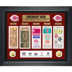 Cincinnati Reds World Series Deluxe Gold Coin & Ticket Collection