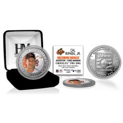 Cal Ripken Jr. Baseball Hall of Fame Silver Color Coin