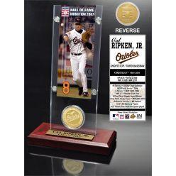 "Cal Ripken Jr. ""Hall of Fame"" Ticket & Bronze Coin Acrylic Desk Top"