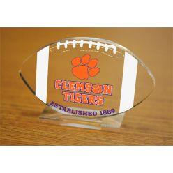 Clemson University Etched Football Acrylic