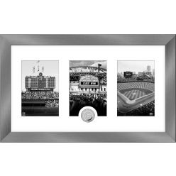 Chicago Cubs Panoramic Art Deco Silver Coin Photo Mint