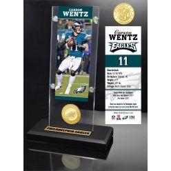 Carson Wentz Ticket & Bronze Coin Acrylic Desk Top