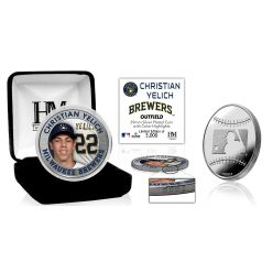 Christian Yelich Silver Mint Coin