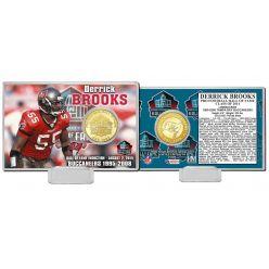 Derrick Brooks 2014 NFL HOF Bronze Coin Card