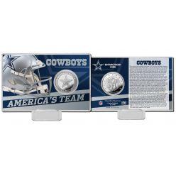 Dallas Cowboys Team History Silver CoinCard
