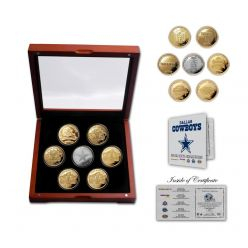 Dallas Cowboys 5-Time Super Bowl Champions 7 Coin Gold and Silver Coin Set