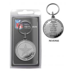 Dallas Cowboys 5-Time Super Bowl Champions Minted Coin Keychain