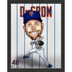 Jacob deGrom New York Mets Framed Dynamo