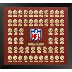 "NFL Super Bowl Gold ""Flip Coin"" Collection (55 Coin Set Framed)"
