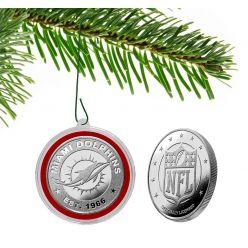 Miami Dolphins Silver Coin Ornament
