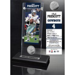 Dak Prescott Ticket & Minted Coin Acrylic Desk Top
