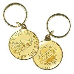 Detroit Red Wings Bronze Team Keychain