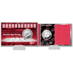 Detroit Red Wings History Silver Coin Card
