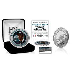 DeVonta Smith Philadelphia Eagles 2021 NFL Draft 1st Round Pick Silver Mint Coin