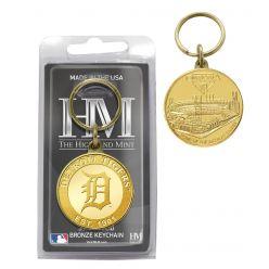 Detroit Tigers Bronze Team Keychain