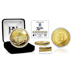 "Detroit Tigers ""Stadium"" Gold Mint Coin"