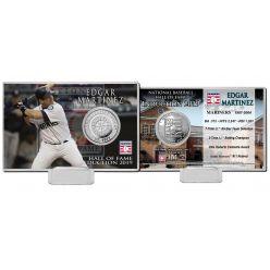 Edgar Martinez Hall of Fame 2019 Silver Coin Card