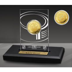Edmonton Oilers 5-Time Champions Acrylic Gold Coin