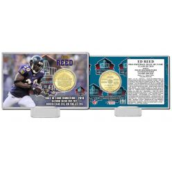 Ed Reed Hall of Fame 2019 Bronze Mint Coin Card