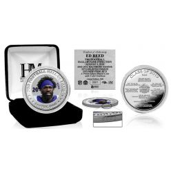 Ed Reed Hall of Fame 2019 Silver Mint Coin