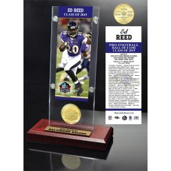 Ed Reed Hall of Fame 2019 Bronze Coin Acrylic Desk Top