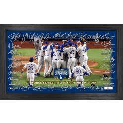 "Los Angeles Dodgers 2020 World Series Champions ""Celebration"" Signature Field"