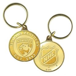 Florida Panthers Bronze Coin Keychain