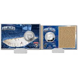 Florida Panthers History Silver Coin Card