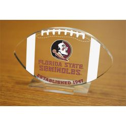 Florida State University Etched Football Acrylic