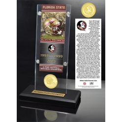Florida State University Ticket & Bronze Coin Acrylic Desk Top