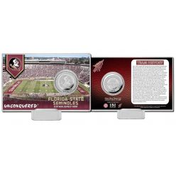 Florida State University Team History Silver Coin Card