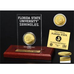 Florida State University 3-Time national Champions Gold Coin Etched Acrylic