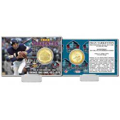 Fran Tarkenton Pro Football Hall of Fame Bronze Coin Card