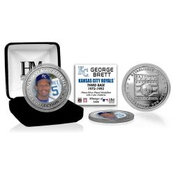 George Brett Baseball Hall of Fame Silver Color Coin