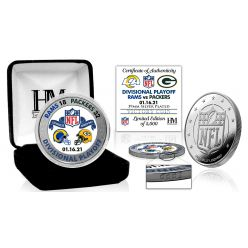 Green Bay Packers NFC Divisional Game Victory Silver Mint Coin