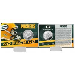 Green Bay Packers Team History Silver Coin Card