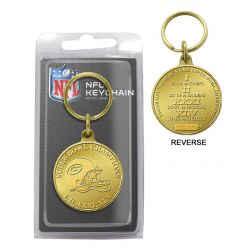 Green Bay Packers 4-Time Super Bowl Champions Bronze Coin Keychain
