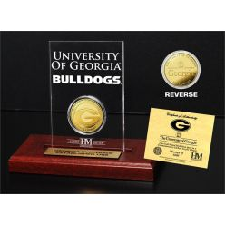 University of Georgia Gold Coin Etched Acrylic