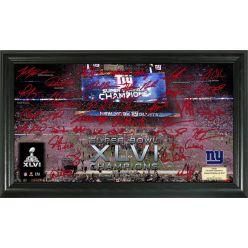 New York Giants Super Bowl XLVI Champions Signature Gridiron
